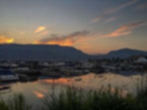 Kelowna Marina Sunset
