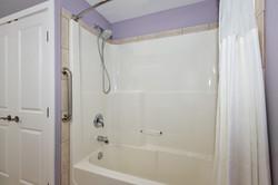 Lavender Room Private Bathroom at Adela's B&B