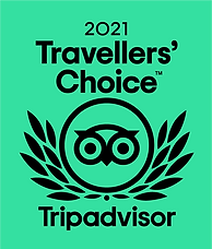 2021 Travellers' Choice Award from Tripadvisor