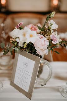 Petit cadre personnalisé pour vos menus de mariage à poser sur vos tables
