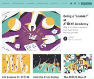 Editorial illustration for Atolye, published on Medium