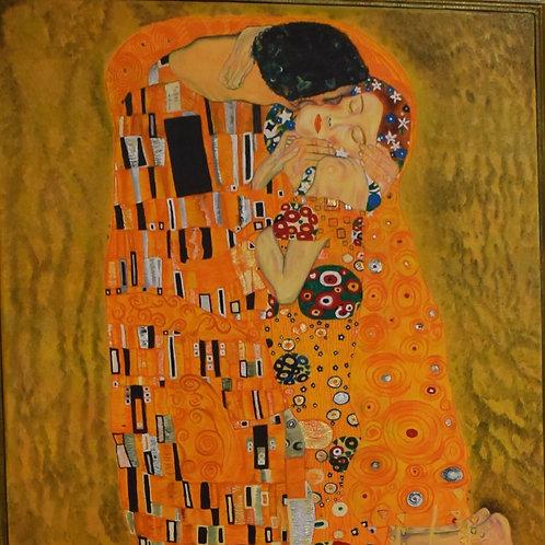 El Beso (Un homenaje a Gustav Klimt)