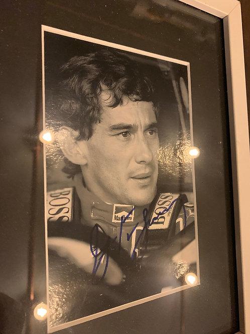 Signature  originale de Ayrton Senna