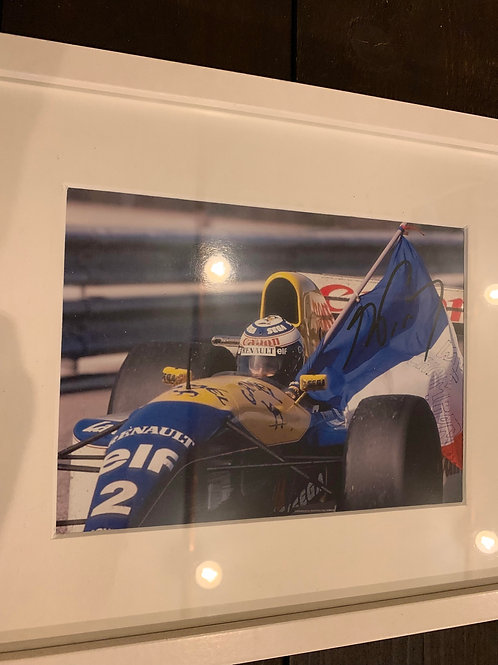 Signature originale de Alain Prost 1993
