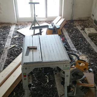 Sanierung, Langes Loh, Basel, Entfernen alter Böden und Schlackenschüttung