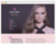 wix website for make up artist