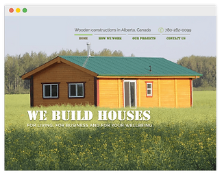 wooden house bulder web page