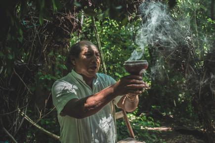 Mayan Shaman in Ritual