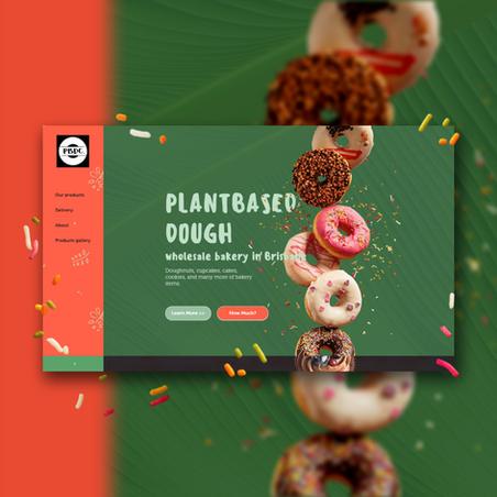 Website design for plant based treats production