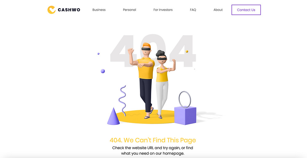 Customised 404 page wix