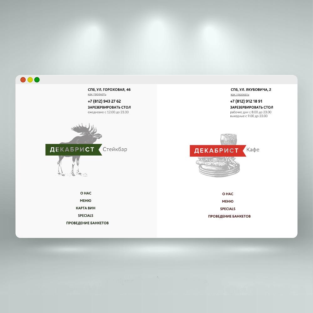 Сайт для ресторана на Wix