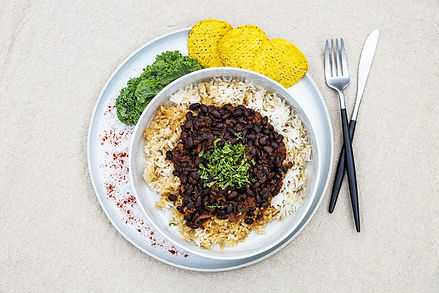 Mexican Smokey Beans with White Rice