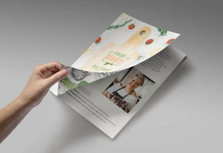 Brouchure Design for Vegan Food Production