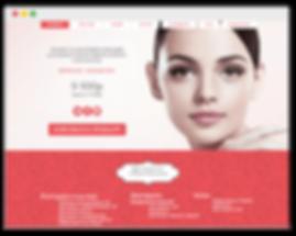 Сайт на wix для косметолога