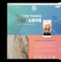 лендинг для мобильного приложения Apple на wix