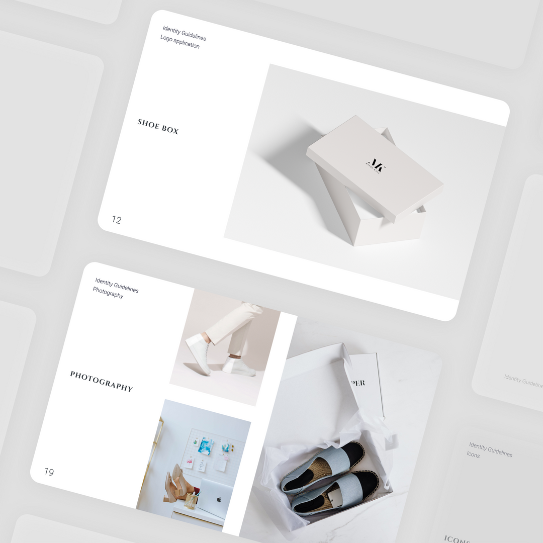 Logo design and branbook for a shoes shop