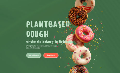 Plantbased donuts | Brisbane, Australia Landing page made for vegan commercial kitchen in ...