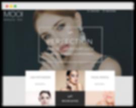 Сайт на wix для салона красоты