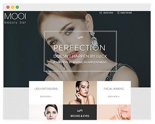 wix website for beauty salon