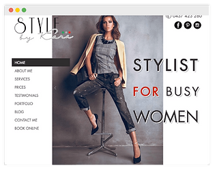 wix website for stylist