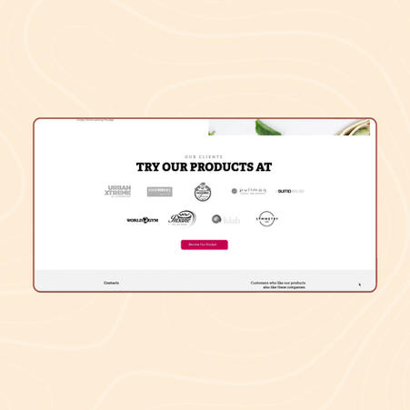 Website design and development for Raw food production
