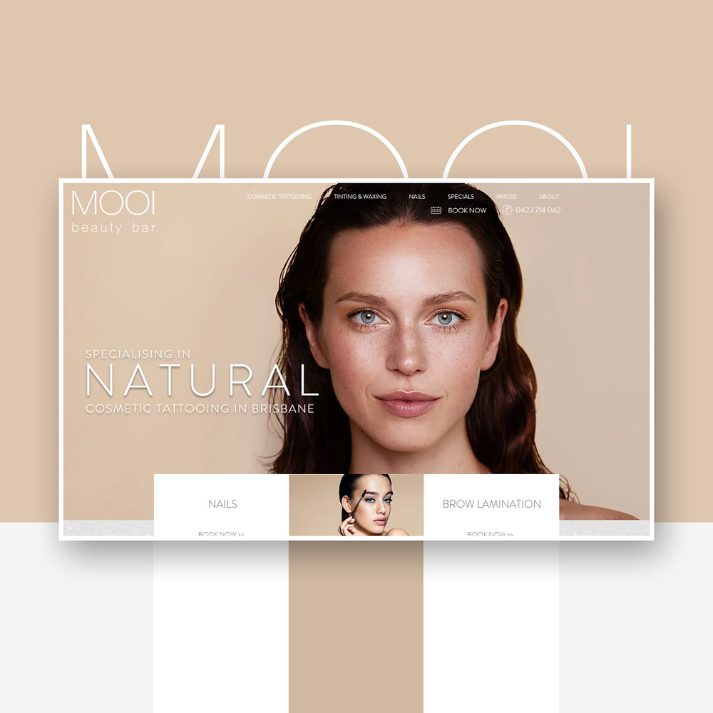 Сайт для салона красоты на Wix