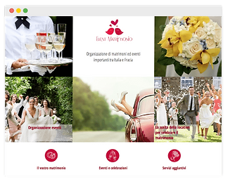 wix website for wedding agency