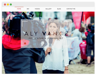 wix website for journalist