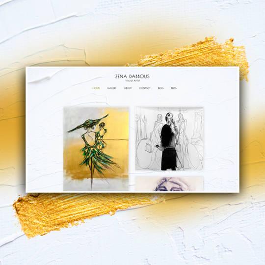 Website design for an artist   Kuwait