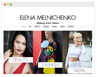 wix website for makeup artist