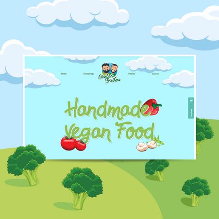 Website design for Vegan Food Production