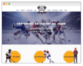 Сайт для хоккейного клуба на wix