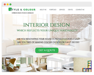 website for interior design studio