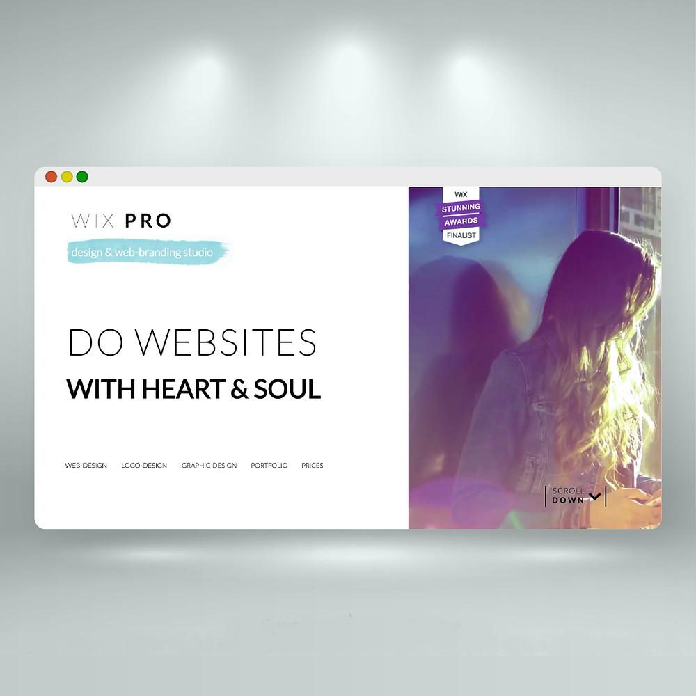 Сайта на wix