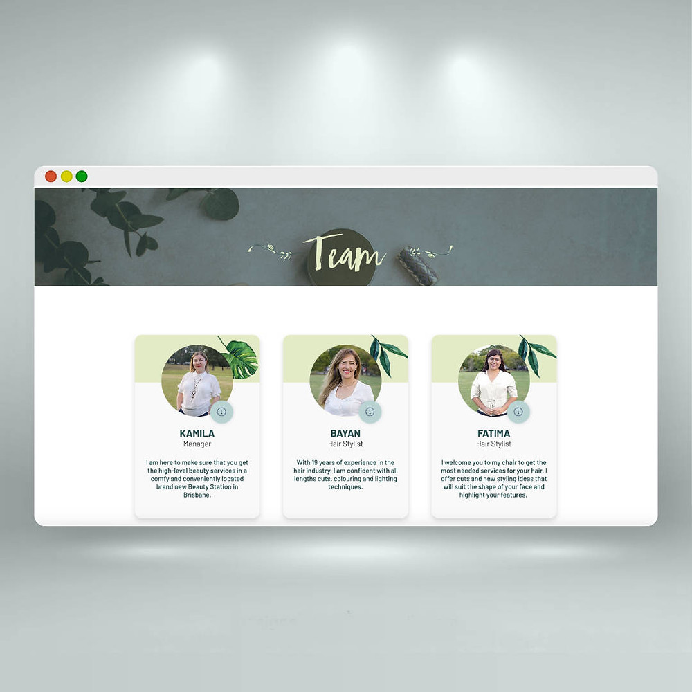 Дизайн сайта на Wix. Сайт для салона красоты.