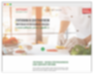 wix landing page healthy food
