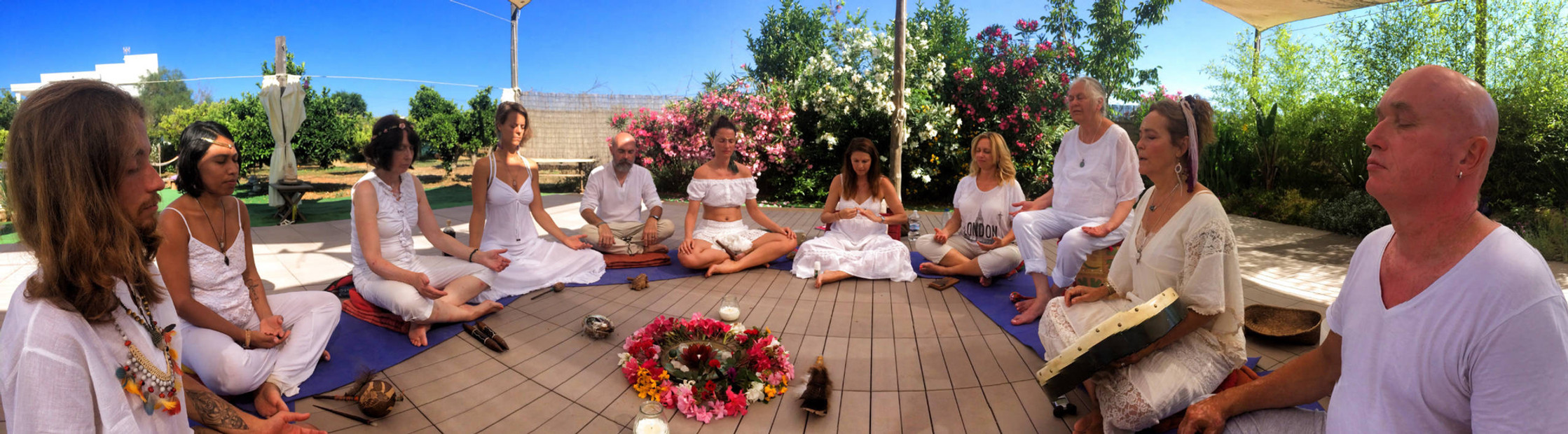 In ceremony on the gorgeous yoga platform
