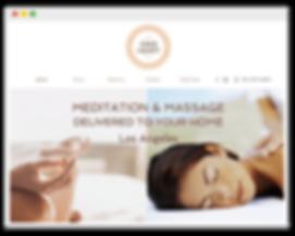 Сайт для студии массажа и медитации