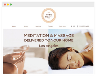 wix website for massage service