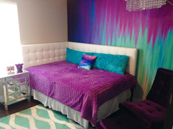 Purple and Turquoise Girls Room