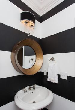 Modern Black And White Powder Room