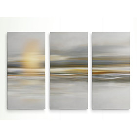'Soft Sea' Graphic Art Print Multi-Piece Image on Wrapped Canvas