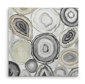'Geode Halves I' Oil Painting Print on Wrapped Canvas