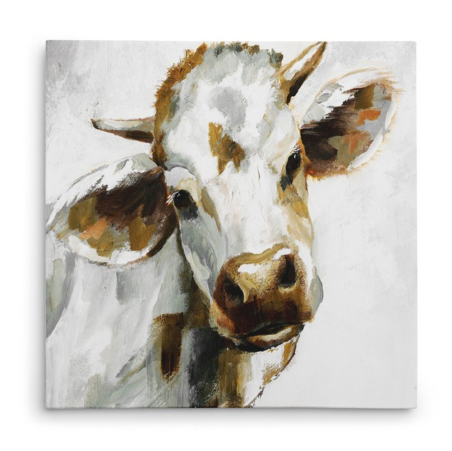 'Dairy Dandy' Oil Painting Print on Wrapped Canvas