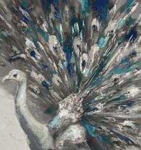 Blue Peacock Art