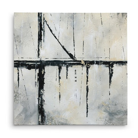 'Urban Across' Acrylic Painting Print on Wrapped Canvas