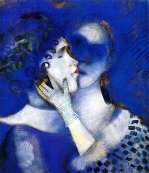1914. Amantes azules.
