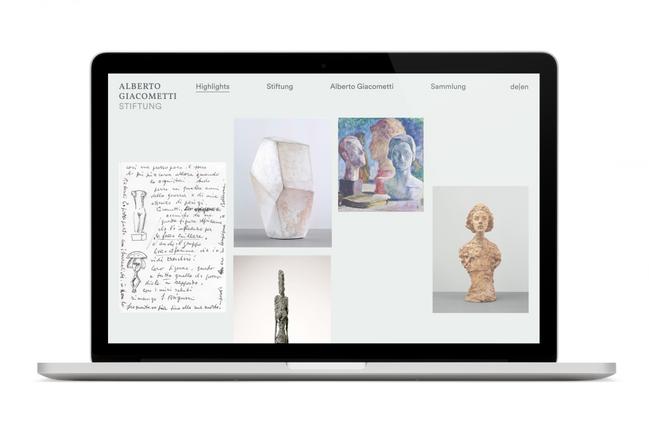 Alberto Giacometti-Stiftung Webseite Hom