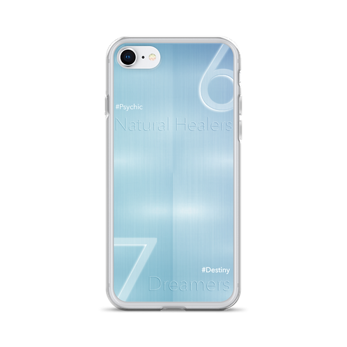 Numerology - iPhone Case (Metallic Blue)