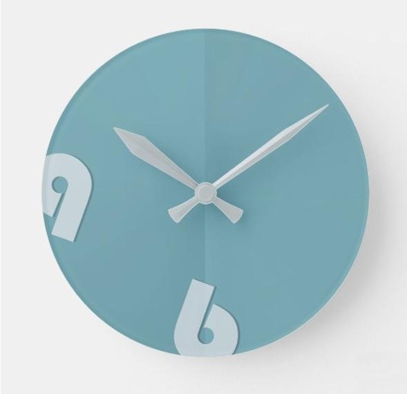 Clock ocean blue